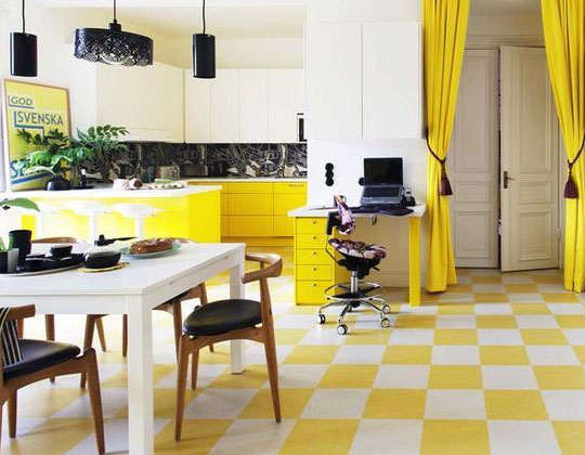 yellow tiles wall floor yellow tile