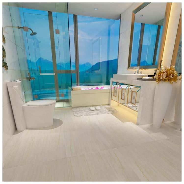 beige polished porcelain floor tile