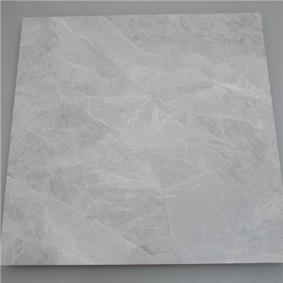light grey polished ceramic floor tile