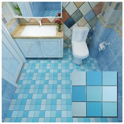 blue polished ceramic wall tile