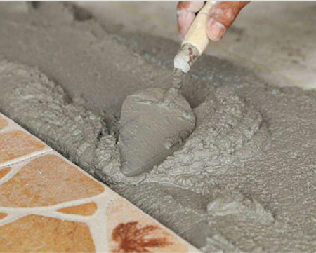 cement sand ratio for tiles flooring