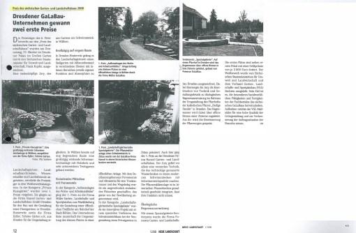 Neue Landschaft 12.2008 Preis Galabau
