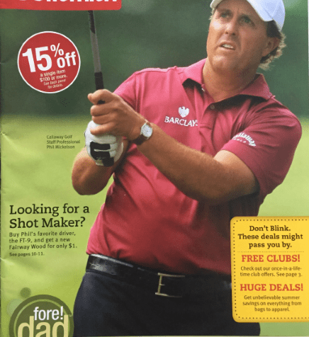 Our direct marketing strategy client: Golfsmith
