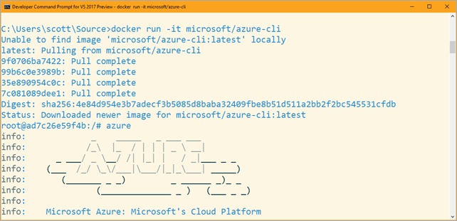 Azure CLI in a Container