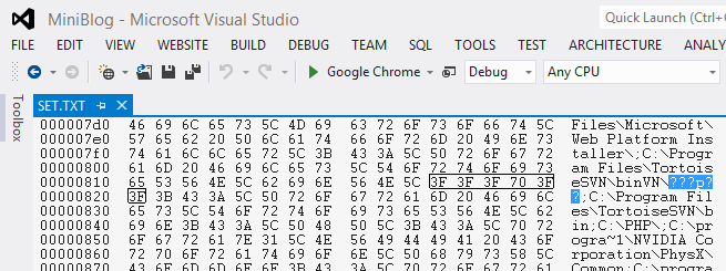 I think the text file was converted to ANSI
