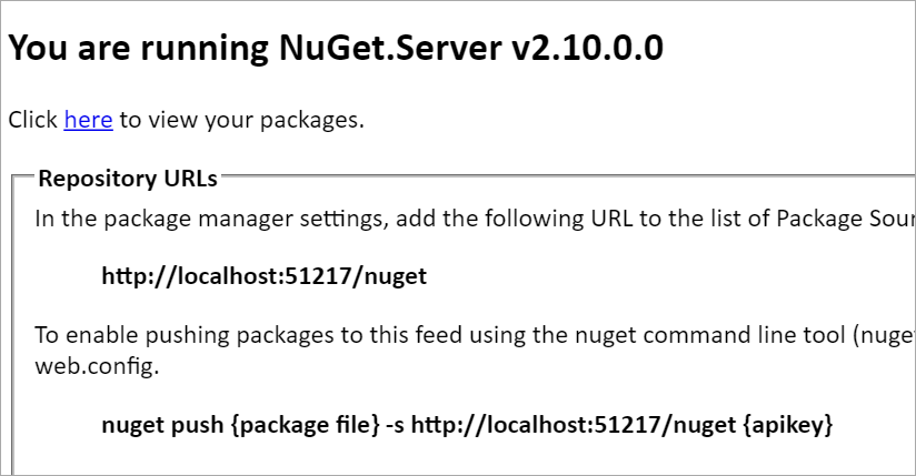 You are running NuGet.Server v2.10.0