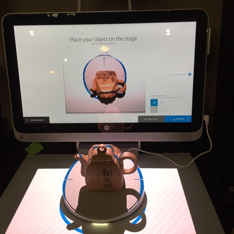 Preparing a scan with the HP 3D Capture Stage
