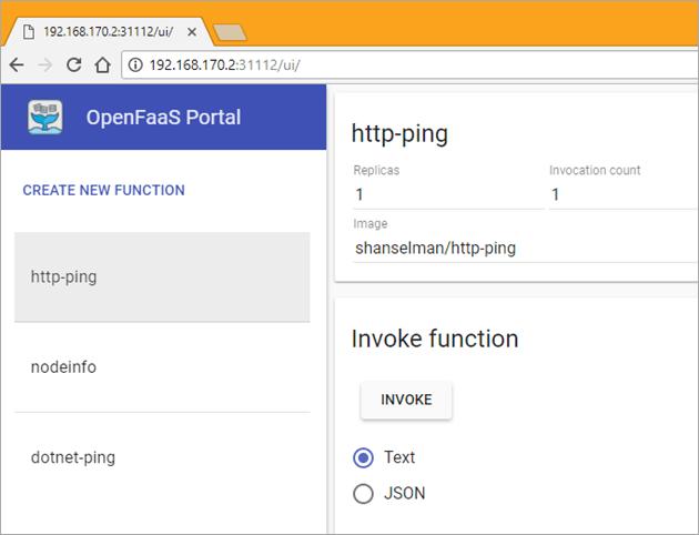 OpenFaas Portal