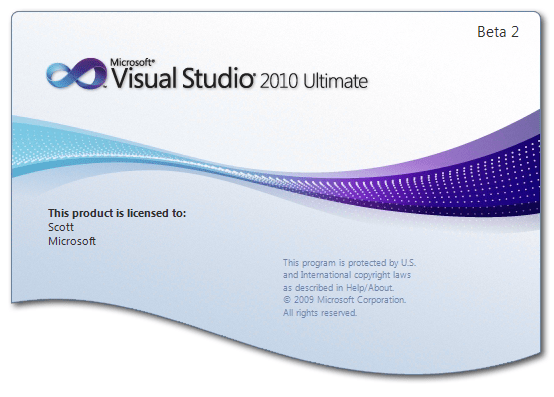VS 2010 Splash Screen
