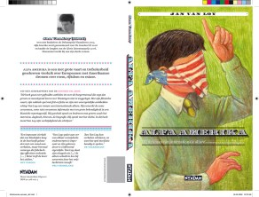 ALFA AMERIKA Novel cover ©Luis Mendo/ GOOD Inc. Nieuw Amsterdam Publishers 2006 Book cover Illustration by Luis Mendo