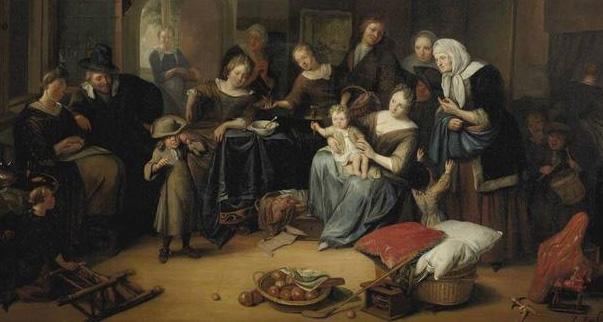 a Sint Richard Brakenburg, Het Sint Nicolaasfeest 1690 klein