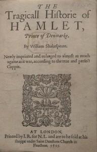 Hamlet Titelpagina 1605 (Q2)