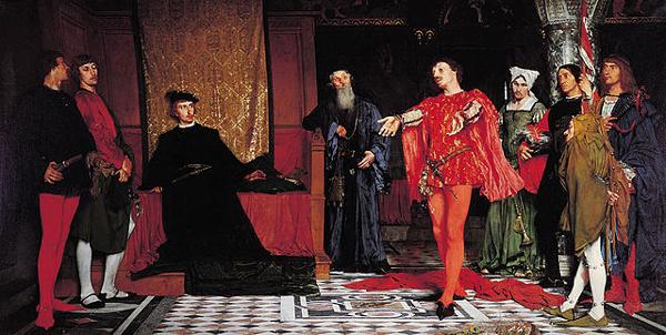 Hamlet en de toneelspelers, Wladyslaw Czachórski, 1875