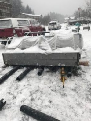 Moving Garden beds away from snow plows
