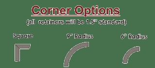 Two radius corner options