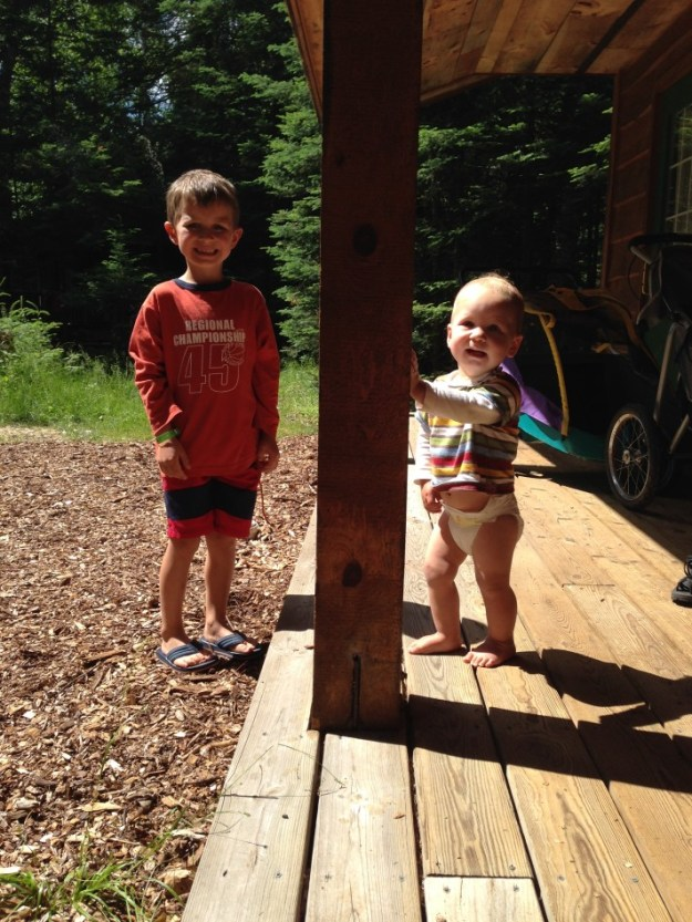 Sorin (age 5), Christian (13 months)