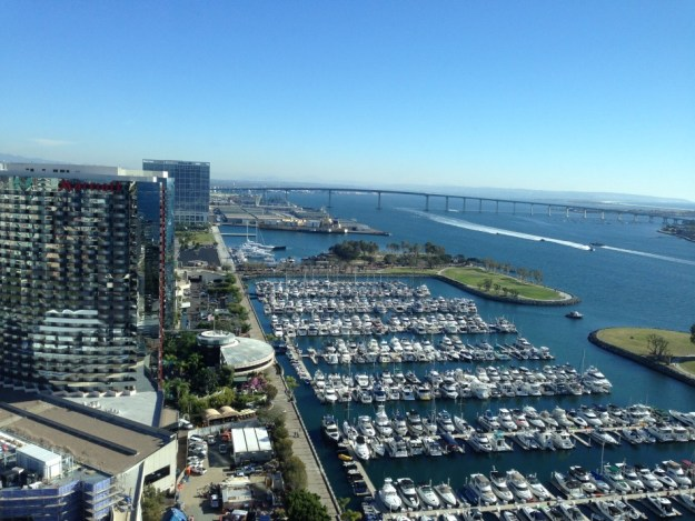 Hans' view from the hotel in San Diego