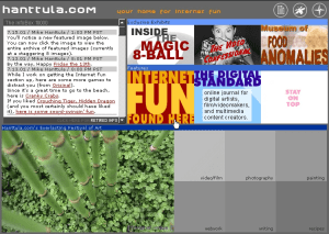 Early Design of Hanttula.com (2001)