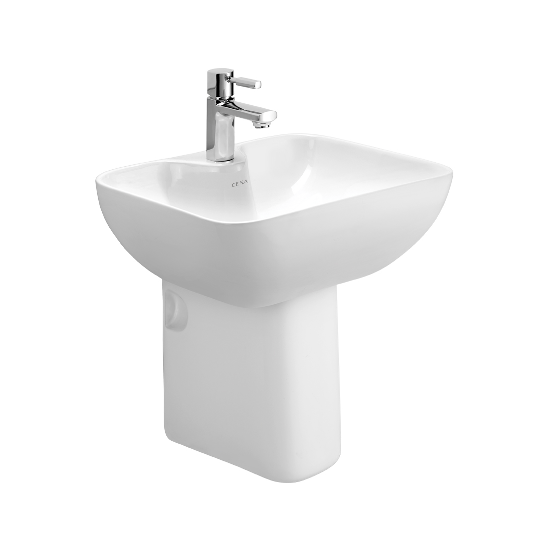 Buy Cera Chino 1219 Wash Basin 1104 Half Pedestal At Best