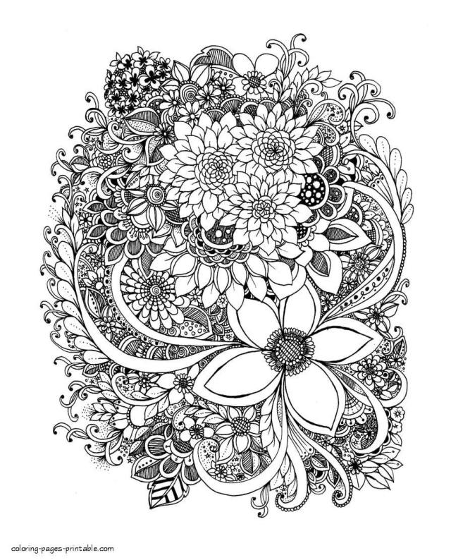 20 Adult Coloring Pages That Are Printable and Fun - Happier Human