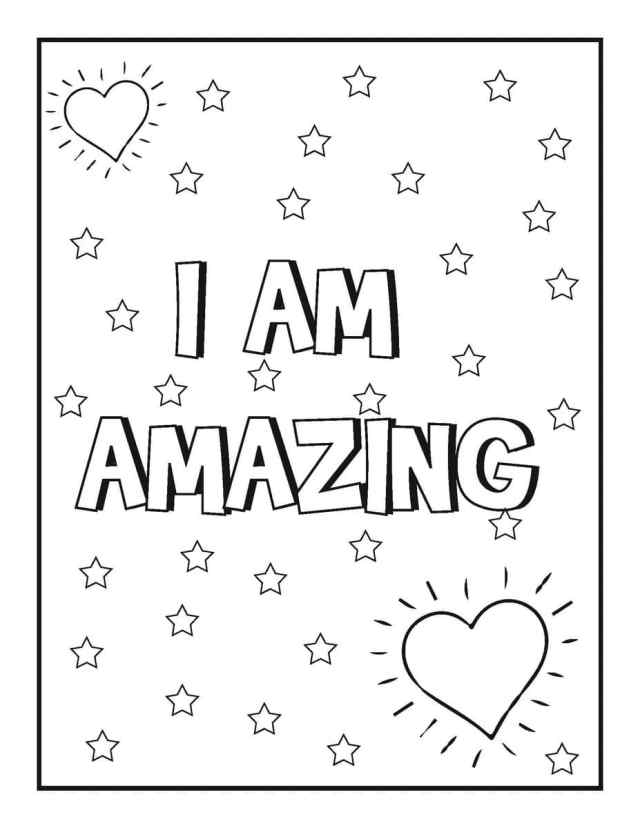 22 Printable Motivational Coloring Pages for Kids - Happier Human