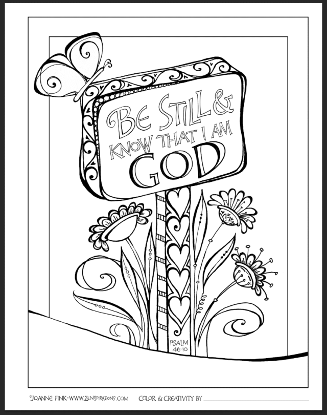 19 Faith Coloring Pages for Adults - Happier Human