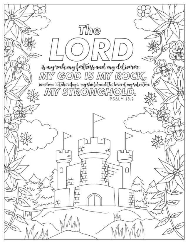 24 Printable Scripture Coloring Pages for Adults - Happier Human