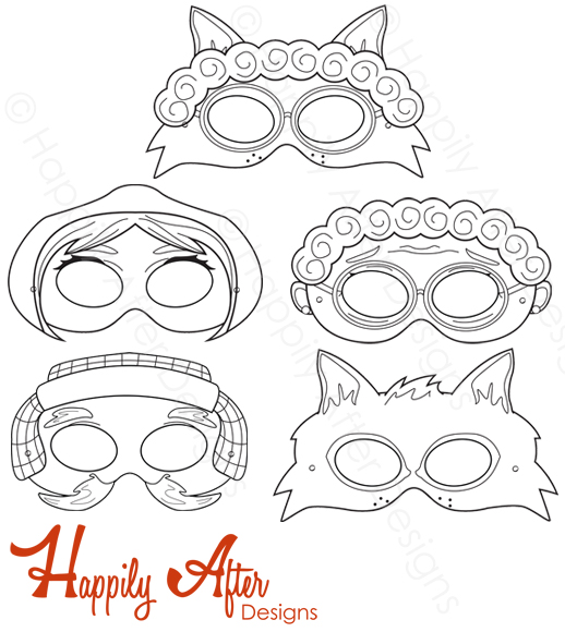 Little Red Riding Hood Printable Coloring Masks