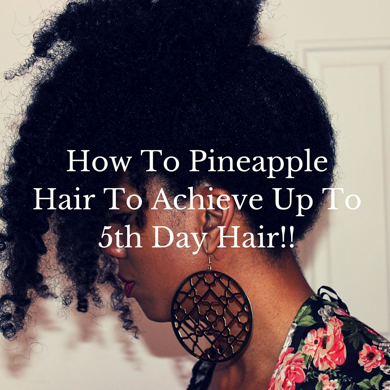 Phenomenal How To Pineapple Your Hair To Achieve 5Th Day Hair Happily Hairstyles For Women Draintrainus