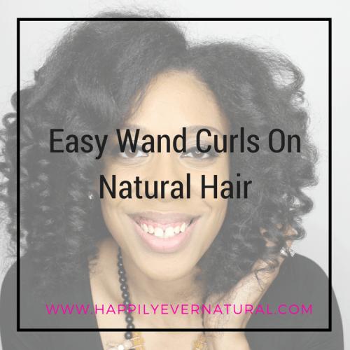 wand curls on natural hair