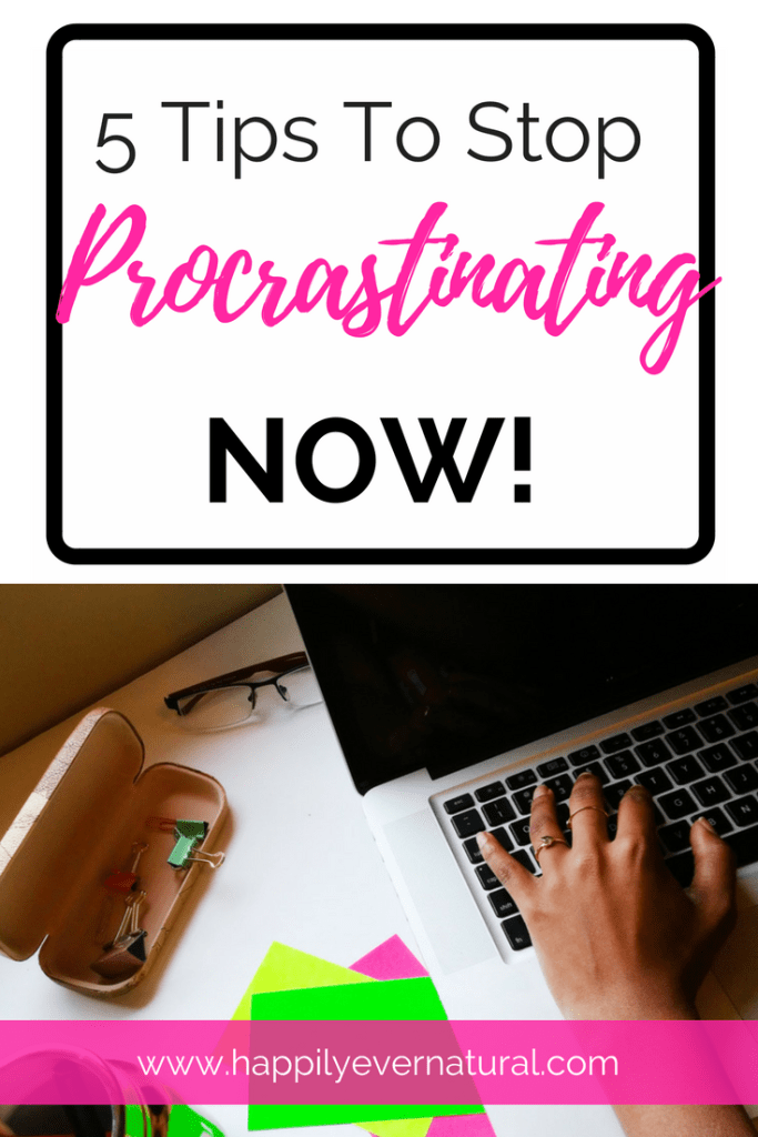 tips to stop procrastinating