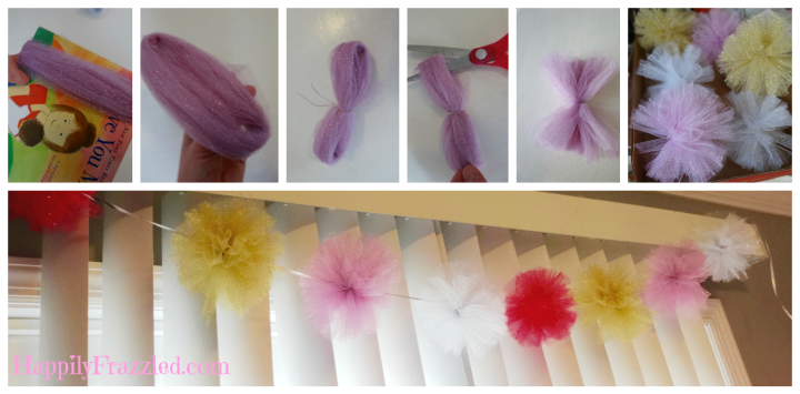 PomPom Garland Tutorial |HappilyFrazzled.com