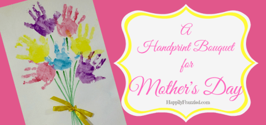 A beautiful handprint bouquet from myour toddler for a loved one on Mother's Day or a Birthday | HappilyFrazzled.com