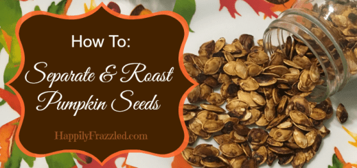 How to separate and roast pumpkin seeds for a fun fall / halloween snack. | HappilyFrazzled.com