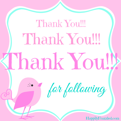 Thank You for Following