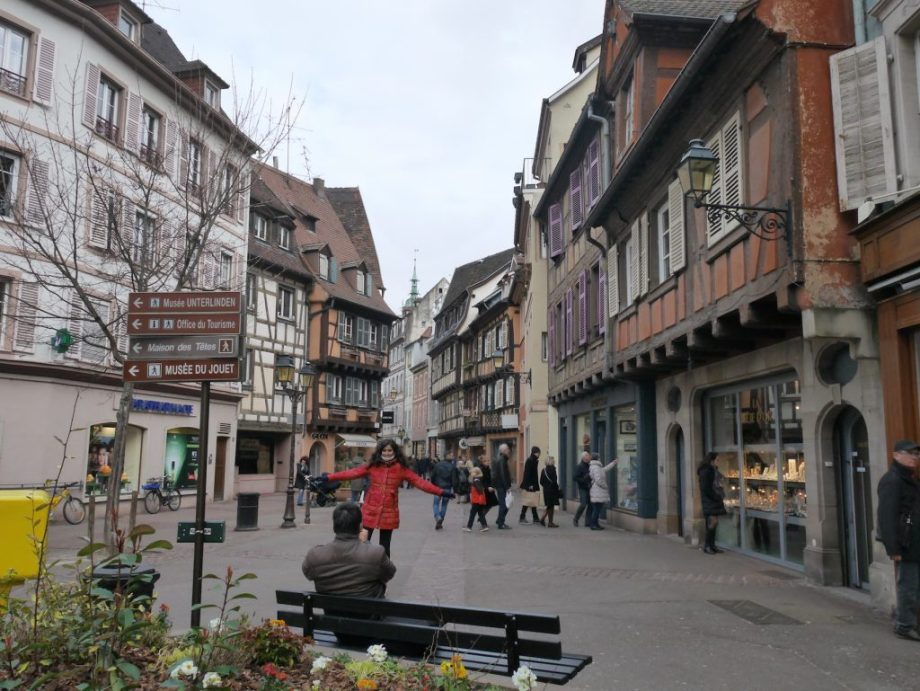 Tourists in Colmar France