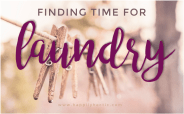 Finding Time for Laundry