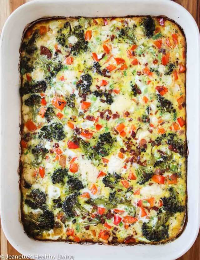 Roasted Broccoli and Red Bell Pepper Casserole
