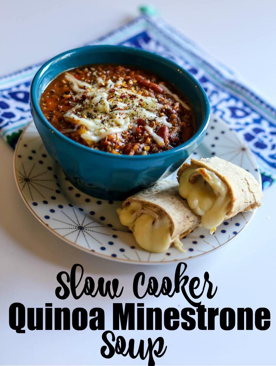 Healthy Slow Cooker Recipe: Quinoa Minestrone Soup