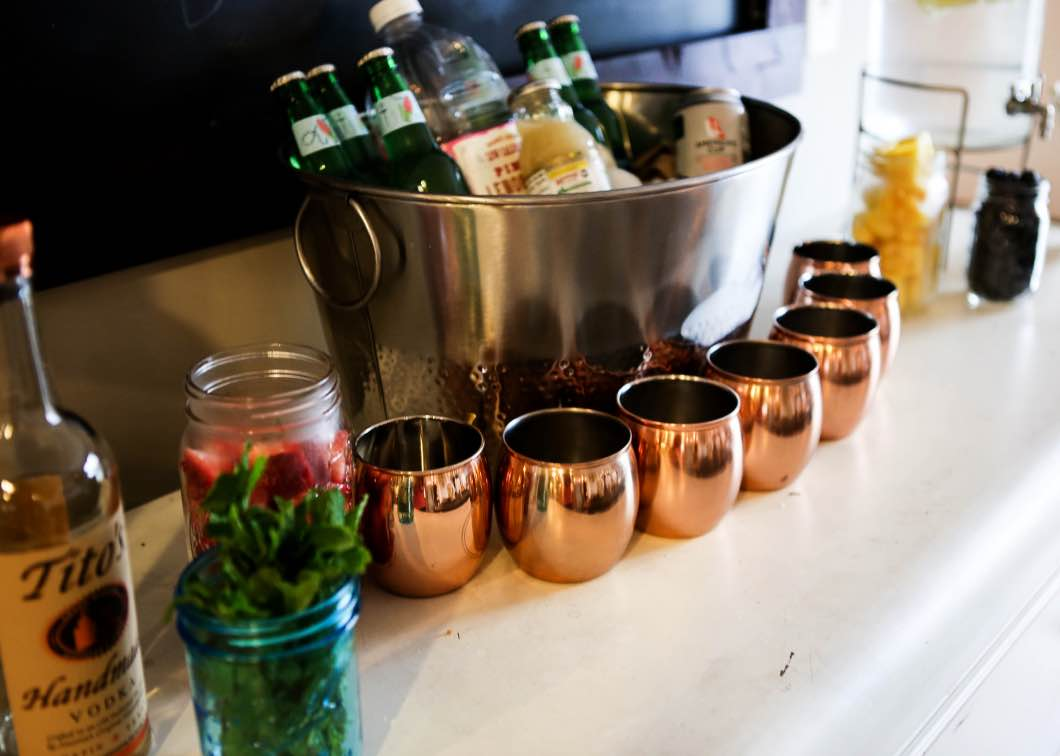 Moscow Mule Bar Copper Cups