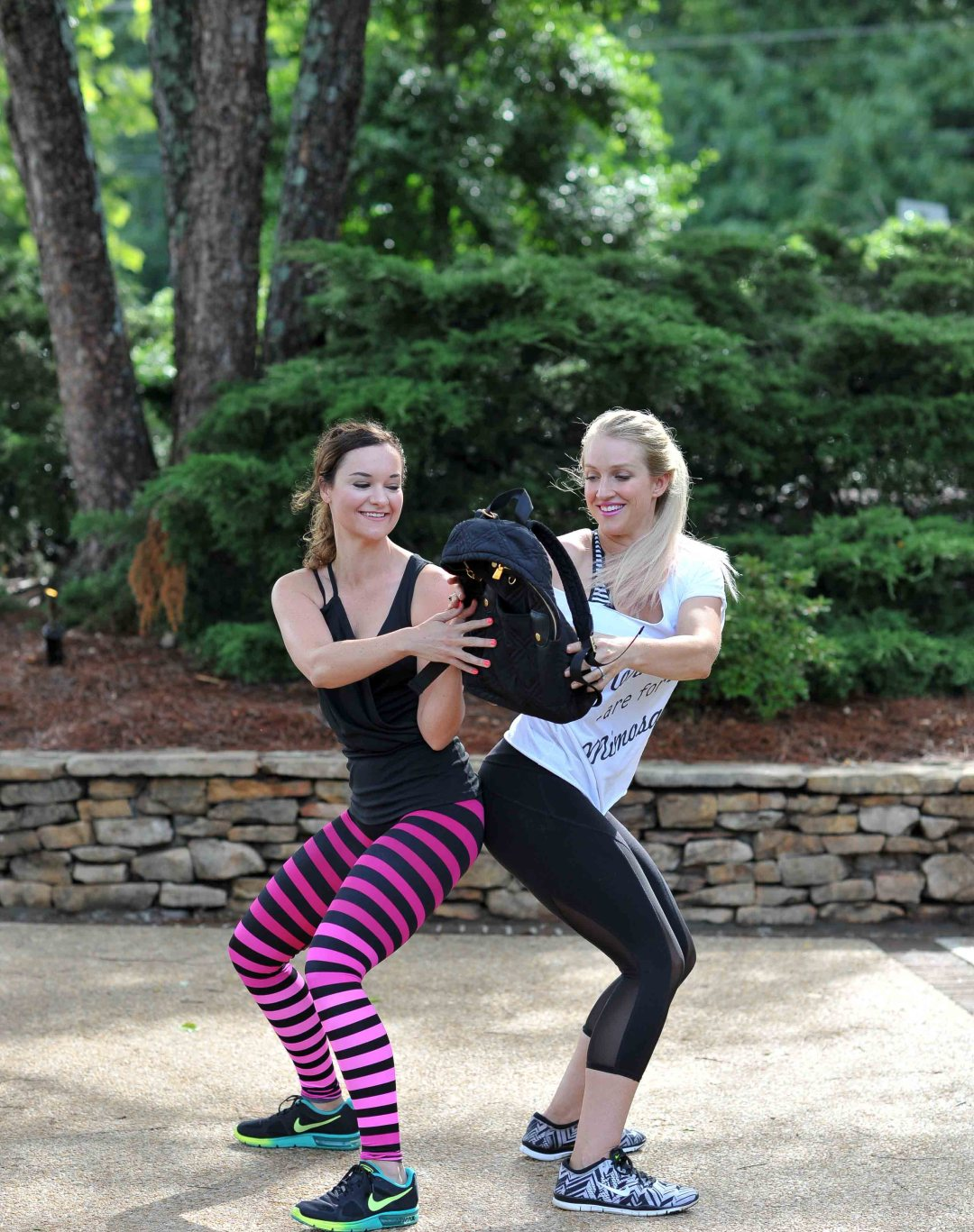Partner Ab Workouts with Premier Protein by fitness blogger Jessica of Happily Hughes