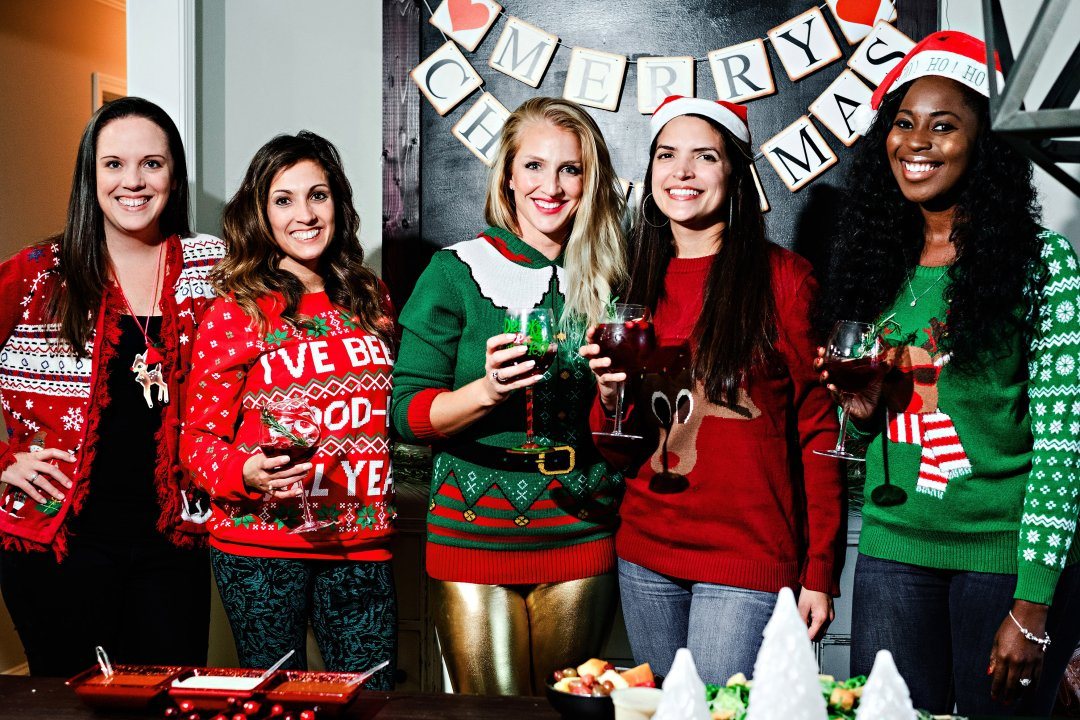 Ugly Sweater Party Ideas and Decor by Atlanta style blogger Happily Hughes