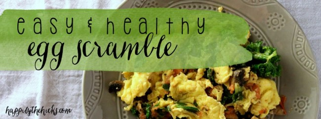Easy and Healthy Egg Scramble