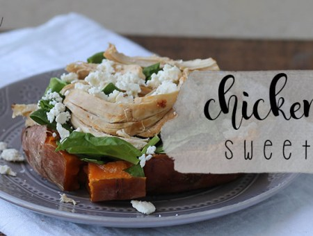 Chicken Stuffed Sweet Potato
