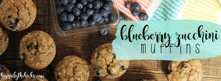Blueberry Zucchini Muffin | read more at happilythehicks.com