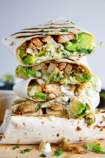 Chicken and Avocado Burrito from closetcooking.com