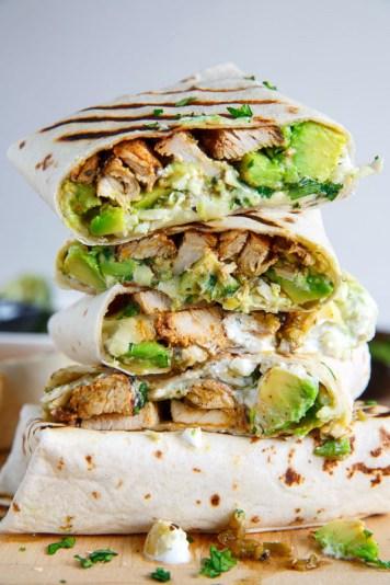 Chicken and Avocado Burrito from closetcooking.com
