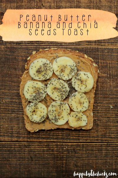 Peanut Butter, Banana and Chia Seeds | read more at happilythehicks.com
