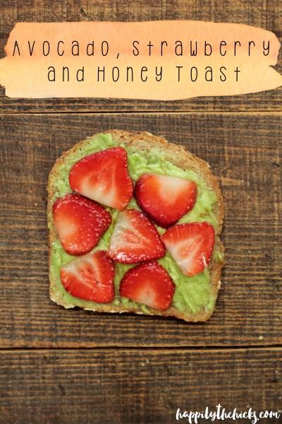 Avocado, Strawberry and Honey Toast | read more at happilythehicks.com
