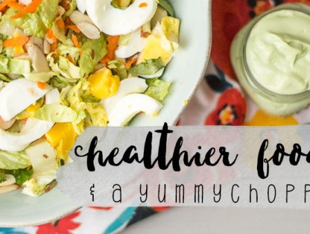 You'll love this delicious Chopped Salad with Avocado Greek Yogurt Dressing. Check out the post for more healthy food swaps you will love! | read more at happilythehicks.com